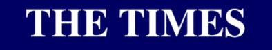 The Times logo blanc